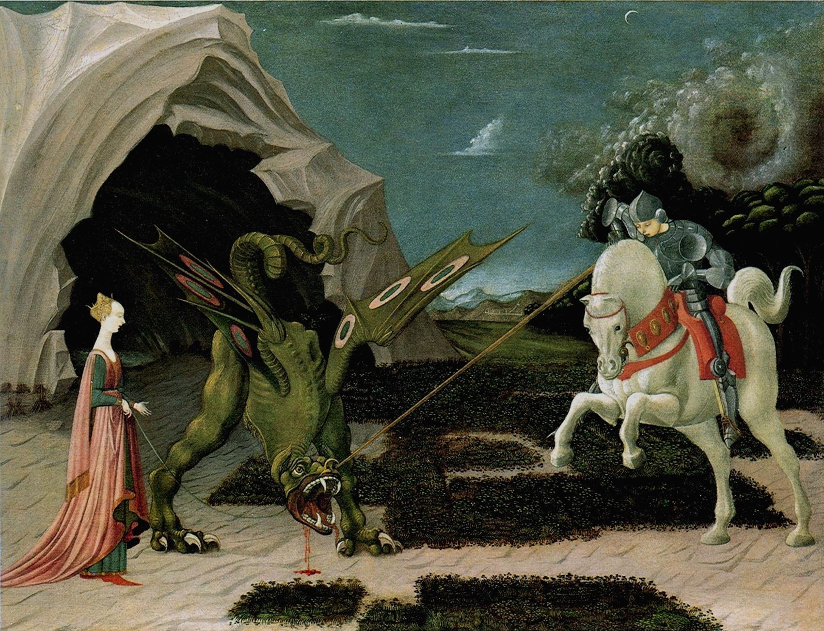 San Jorge y el dragón - Paolo_Uccello