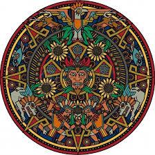 mandala azteca con girasoles dedicado al sol  Google