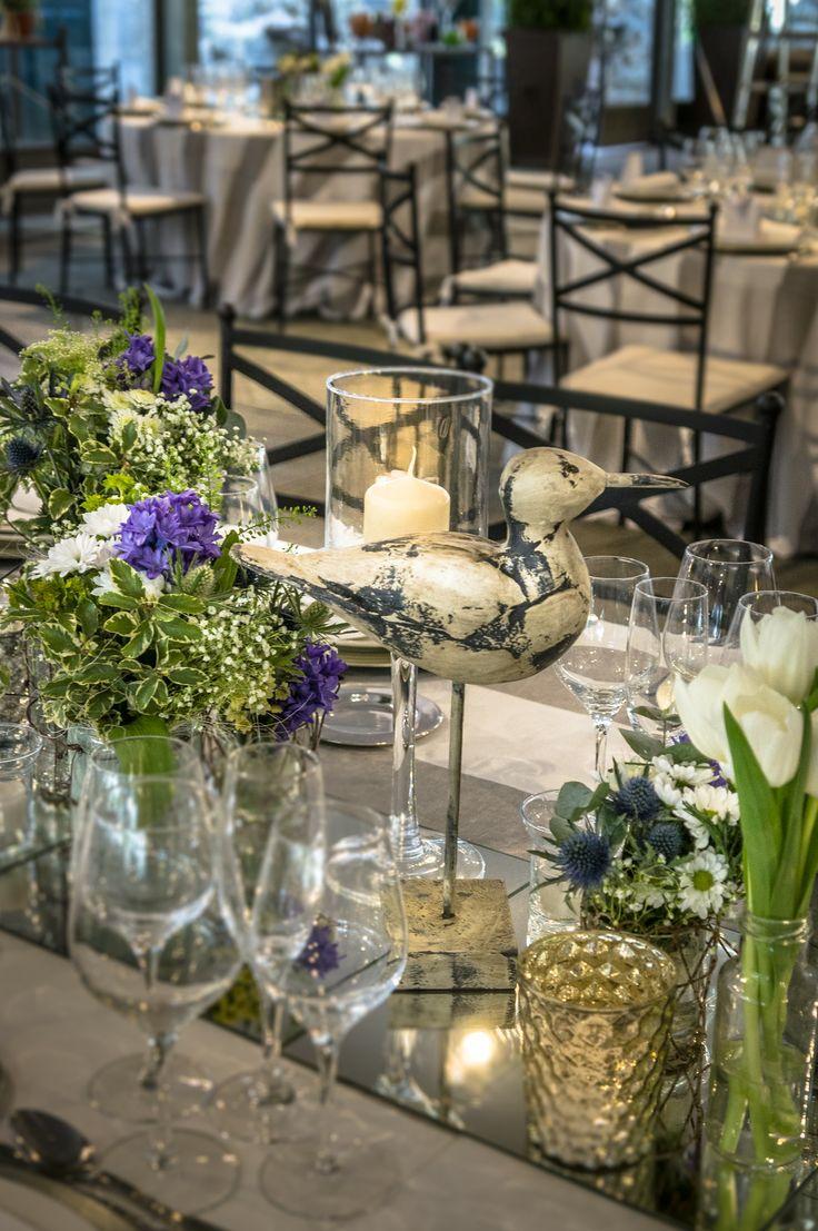 Decoración de la mesa imperial de la boda marinera enel Campillo