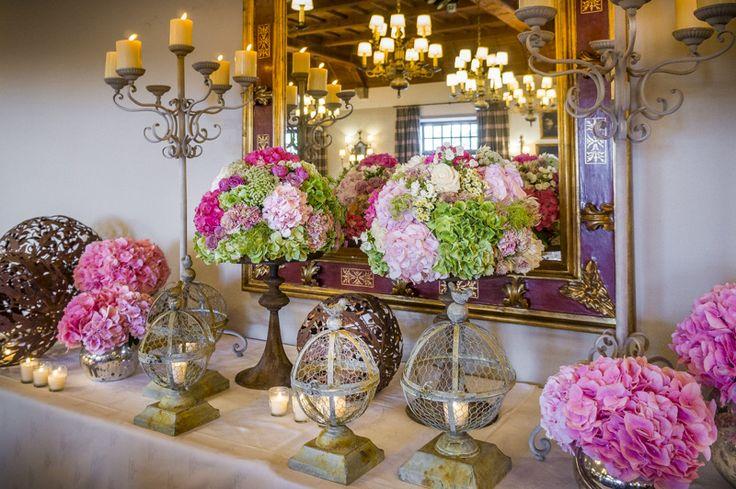bodegón de flores en boda  de baiona